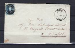Nr 7 Op Brief Van Moll Naar Bruxelles 20/08/1857 - D 37 Moll (GA6312) - 1851-1857 Medaillen (6/8)