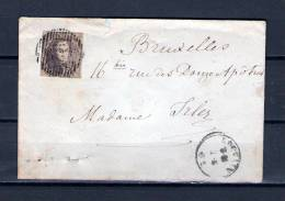 Nr 10 Op Brief Van Louvain Naar Bruxelles 03/06/1862 - P 76 Louvain (GA6440) - 1858-1862 Medaillons (9/12)