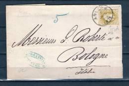 Nr 32 Op Brief Van Anvers Naar Bologne (Italie) 01/06/1878 (GA5365) - 1869-1883 Leopold II