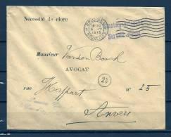 Brief Staatsdienstsache Van Brussel Naar Antwerpen  - Nécessité De Clore - 05/08/1915 (GA4875) - WW I