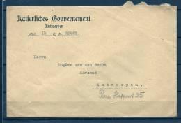 Brief Kaiserliches Gouvernements Van Antwerpen Naar Antwerpen (GA4880) - WW I