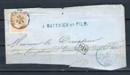 Nr 33 Op Briefstukje Van Bruxelles PD 14/04/1870 (GA5219) - 1869-1883 Léopold II