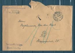 Brief Gouvernements-Intendantur Van Antwerpen Naar Antwerpen - Portoflichtige Dienstsache - 17/11/1915 (GA4943) - Guerre 14-18