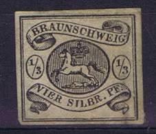 German States: Braunschweig: Mi Nr  3 X Signed Signiert Cancelled