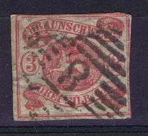 German States: Braunschweig: Mi Nr  12 A Cancelled, Has Some Thin Spots! - Brunswick