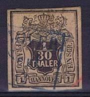 German States: Hannover: Mi Nr  3  Cancelled,