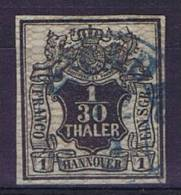 German States: Hannover: Mi Nr  10 A  Cancelled,