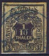 German States: Hannover: Mi Nr  12  Cancelled,