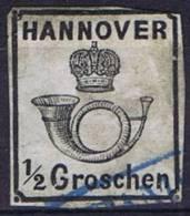 German States: Hannover: Mi Nr  17   Cancelled,