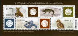 CANADA 2006 - Faune En Danger, Rénard, Serpent, Lézard Etc - BF Neufs // Mnh - 1952-.... Règne D'Elizabeth II