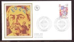 Y/T N° 2085/86 Sur  2 FDC Sur SOIE - Oblit 1 Ier J.: PARIS - 26/4/80 - EUROPA 80 - A. BRIAND Et St-BENOÎT. - 1980-1989