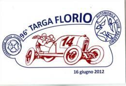 96 TARGA FLORIO 2012  CIRCOLO FILATELICO TERMINI IMERESE PROVA DI STAMPA TIR.120 PZ .NON VIAGGIATA - Manifestazioni