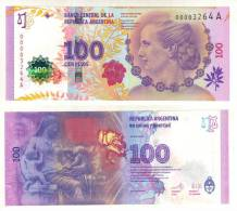 ARGENTINA BANKNOTE 100 PESOS PICK NEW 2012 UNC - Eva Perón - Argentine