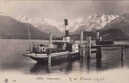 COLICO (Südtirol), Imbarcadero, Dampfschiff An Der Anlegestelle, Nicht Gelaufen 1906 - Non Classés