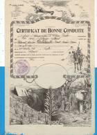 Certificat De Bonne Conduite - 19ème Corps D'armée - Département Du Calvados  - Lavauzelle, Editeur Militaire - Documents