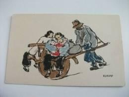 Cina China Illustratore Schiff Scene Di Vita Cinese Kelly & Walsh's Series Sketches Of Chinese Life - China