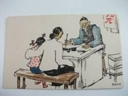 Cina China Illustratore Schiff Scene Di Vita Cinese Kelly & Walsh´s Series Sketches Of Chinese Life Insegnate Scrittore - China