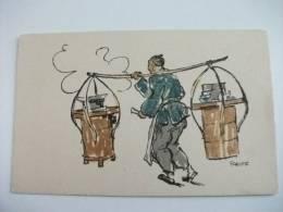 Cina China Illustratore Schiff Scene Di Vita Cinese Kelly & Walsh´s Series Sketches Of Chinese Life La Cucina - China