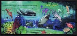 AUSTRALIE 1998 - Planete Ocean - Baleine, Dauphin, Requin ..... - Serie Neuve Sans Charniere (Yvert 1710/15) - 1990-99 Elizabeth II