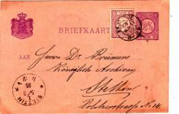 Briefkaart Geuzendamnr. 12 Met Stempel  ENSCHEDE 14 MRT 1885 - Nederland
