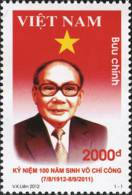 Vietnam 2012: 100th Birth Anniversary Of Vo Chi Cong (7/8/1912 – 8/9/2011) - Mint NH - Famous People