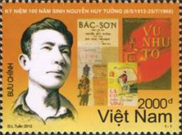 Vietnam New Issue 2012: 100th Birth Anniversary Of Nguyen Huy Tuong (6/5/1912 – 25/7/1960) - Mint NH - Writers