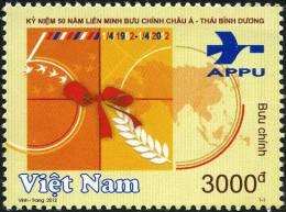 Vietnam 2012: 50thAnniversary Of Asian Pacific Postal Union (APPU) (1/4/1912 - 1/4/2012) - Mint NH - Organizations