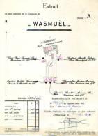 Wasmuel -  1947 - 4 Plans D'arpentage De Wasmuel Et Quaregnon Sur Papiers Timbrés - Geographical Maps