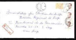 Recommandé - Halte Montenau - 44A - PP Amel-Amblève - Marcophilie