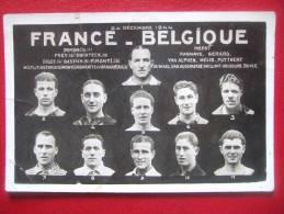 FOOTBALL - FRANCE - BELGIQUE AU PARC DES PRINCES LE 24 / 12 / 1944 - FRANCE GAGNE 3 A 1 -  TRES RARE - Voir L´état -FOOT - Football
