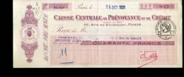 LETTRE DE CHANGE  CAISSE CENTRALE DE PREVOYANCE ET DE CREDIT   DE 1921 AVEC TIMBRE SEC 25 CTS - Lettres De Change