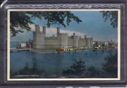 Cpa Caernarvon Castle - Pays De Galles