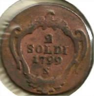 ITALY GORIZIA 2 SOLDI MOTIF FRONT CROWN BACK 1799  VF+ C-? READ DESCRIPTION CAREFULLY!! - Regional Coins
