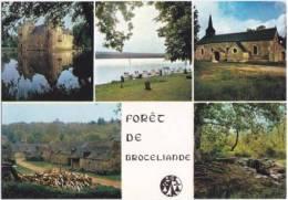 1505-France 35-Paimpont-Foret De Broceliande-Multivues-Chateau De Trecesson, Chapelles De Trehorontec.Ed Jos-Ref MX 8341 - Paimpont