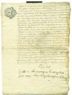 Généralités D´Auvergne. Chaudes - Aigues 1782, Signé Fillion - Gebührenstempel, Impoststempel