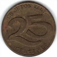 JETON, SAMVA, 25 Cts. (MN 83 ) - Monetary / Of Necessity