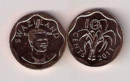 Swaziland 10 Cents  2011. UNC - Swaziland