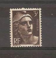 FRANCE - TIMBRE NEUF - MARIANNE DE GANDON - YVERT 715a - BRUN NOIR - 1945-54 Marianne Of Gandon