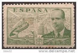 ES885-A758TPO.España,  Spain, Espagne.Ingeniero JUAN DE LA CIERVA.1935. (Ed 885**) Sin Charnela.MUY BONITO - Otros