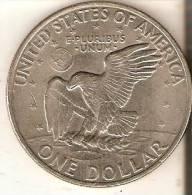REPLICA DE UNA MONEDA DE ESTADOS UNIDOS DE 1 DOLLAR DEL AÑO 1971  (NO ES DE PLATA) - EDICIONES FEDERALES