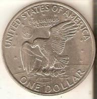 REPLICA DE UNA MONEDA DE ESTADOS UNIDOS DE 1 DOLLAR DEL AÑO 1972  (NO ES DE PLATA) - EDICIONES FEDERALES