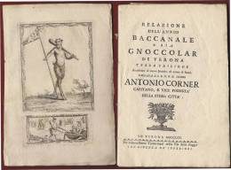 """1764 VERONA :"""" BACCANALE O GNOCCOLAR"""" LIBRO COMPLETO DELLE  STAMPE D'EPOCA.. - Libri Antichi"""