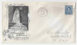 Canada 1948 FDC Commemorating Royal Wedding Scott 276 Elizabeth Artcraft - First Day Covers