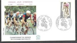 Env Fdc France, 22/7/72 Gap, N°1724, Championnats Du Monde De Cyclisme Sur Route - 1970-1979