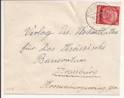 P63 - REGISHEIM -  REGUISHEIM - 1941 - Sur 12 Pfennig Hindenburg Surchargé Elsass - - Alsace-Lorraine