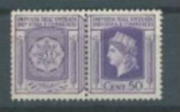 MARCA DA BOLLO REVENUE 1944 R.S.I. - CENT.50 - PAIR - Advertising