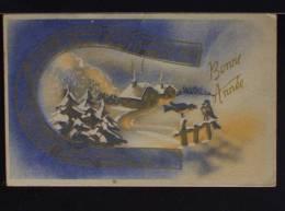 Bonne Année - M.D. Paris - Formato Piccolo VIAGGIATA Nel 1958 - Año Nuevo