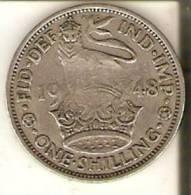 MONEDA DE REINO UNIDO DE 1 SHILLING DEL AÑO 1948 DEL IMPERIO EN LA INDIA  (COIN) - Colonias