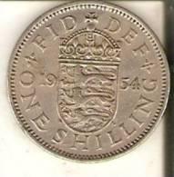 MONEDA DE REINO UNIDO DE 1 SHILLING DEL AÑO 1954 DE ELIZABETH II  (COIN) - Colonias