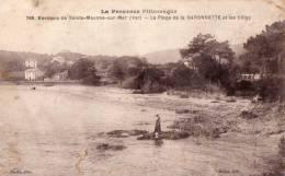 83. SAINTE MAXIME ( ENVIRONS) La Plage De La Garonnette Et Les Villas - Sainte-Maxime
